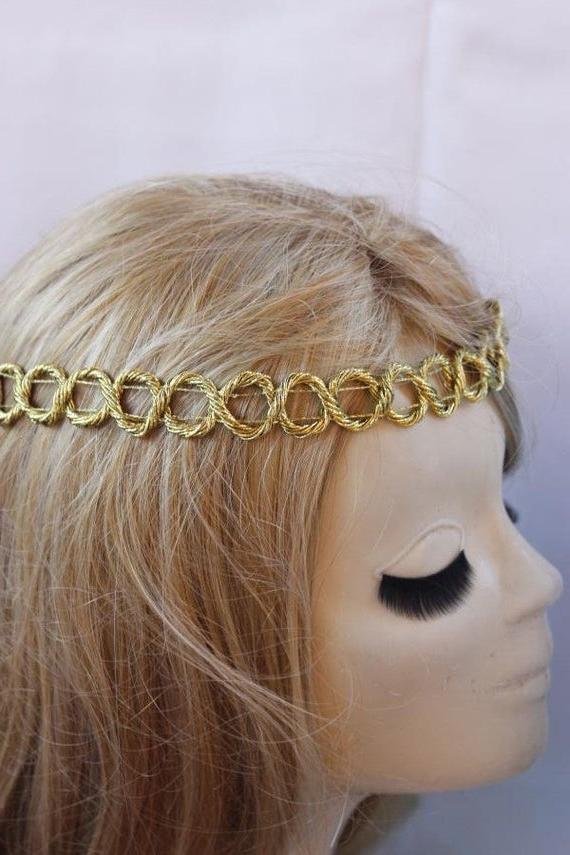 Items Similar To Braided Hippie Headband Boho Hairband For Favorite Hippie Braid Headband Hairstyles (View 16 of 20)