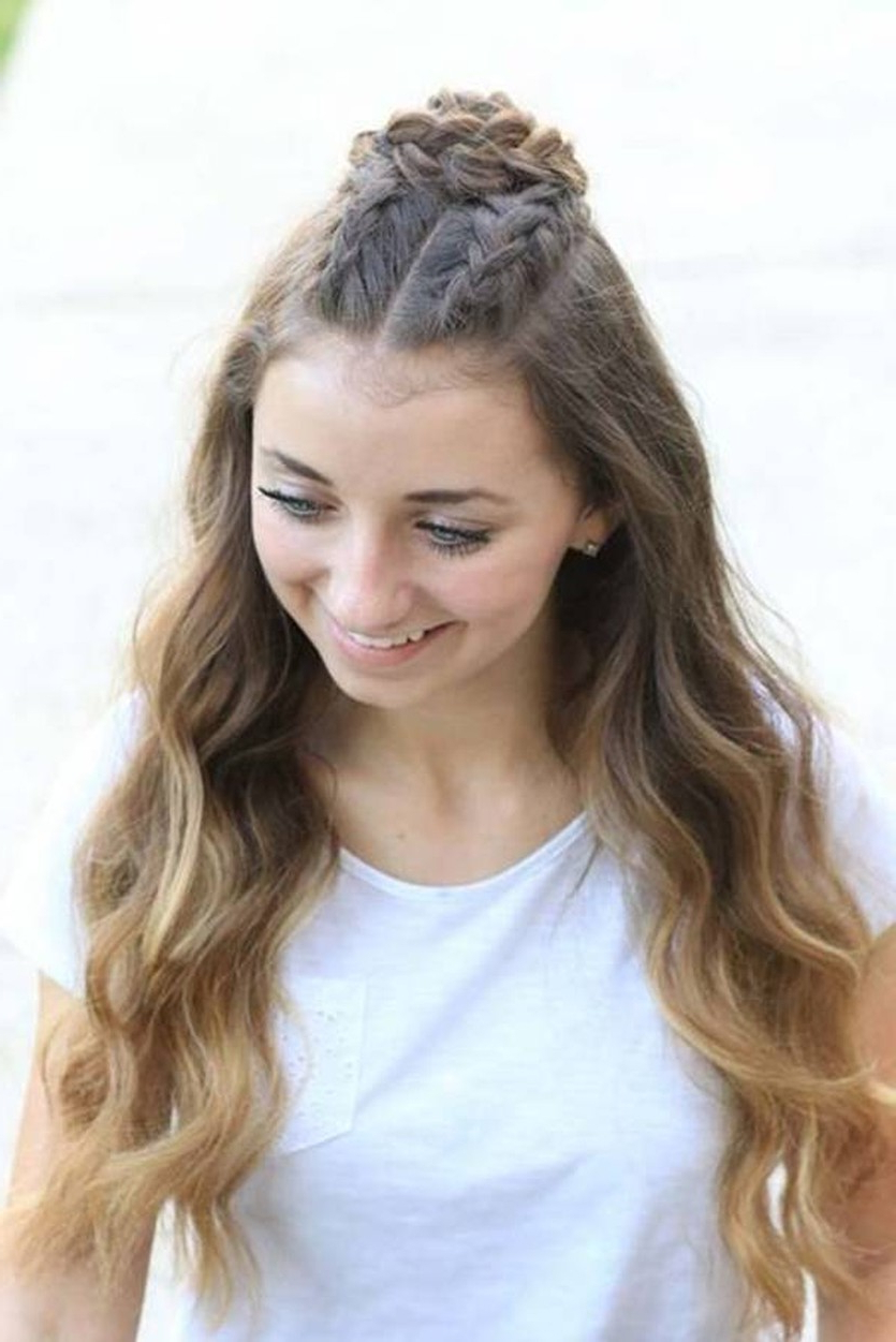 Latest Braided Top Knot Hairstyles In Trend Watch – Mohawk Braid Into Top Knot Half Up (View 7 of 20)