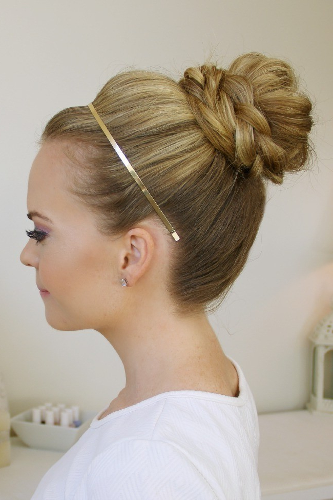 Latest Braided Top Knot Hairstyles With Braid Wrapped Top Knot · How To Style A Braided Bun (View 4 of 20)