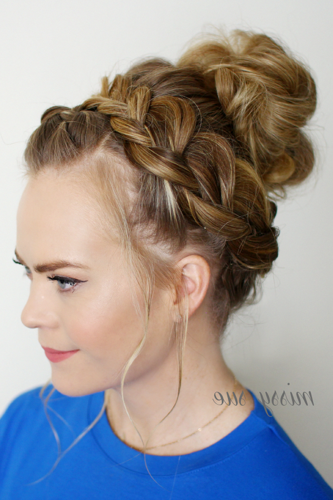 Latest Braided Top Knot Hairstyles With Dutch Braid Top Knot #toplonghairstyles (with Images (View 13 of 20)