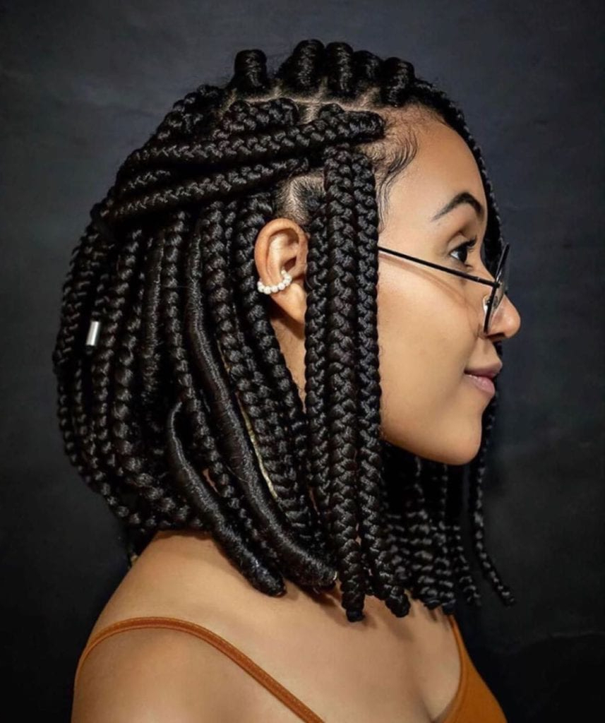 Latest Chic Black Braided High Ponytail Hairstyles Inside 27+ Beautiful Box Braid Hairstyles For Black Women + Feed (View 2 of 20)