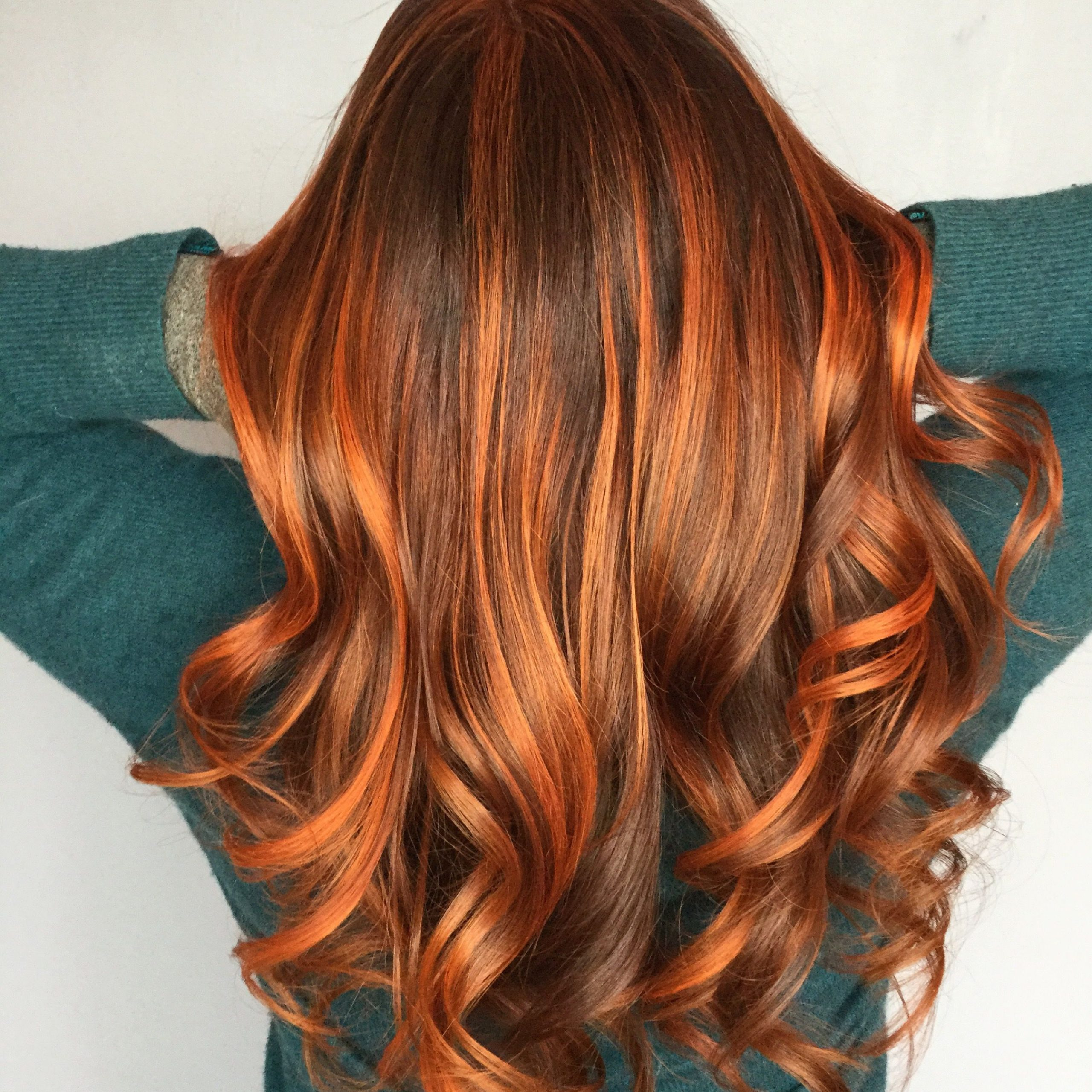 Latest Copper Curls Balayage Hairstyles Pertaining To Copper Melted Balayage #balayage #columbiamo #matrixcolor (View 12 of 20)