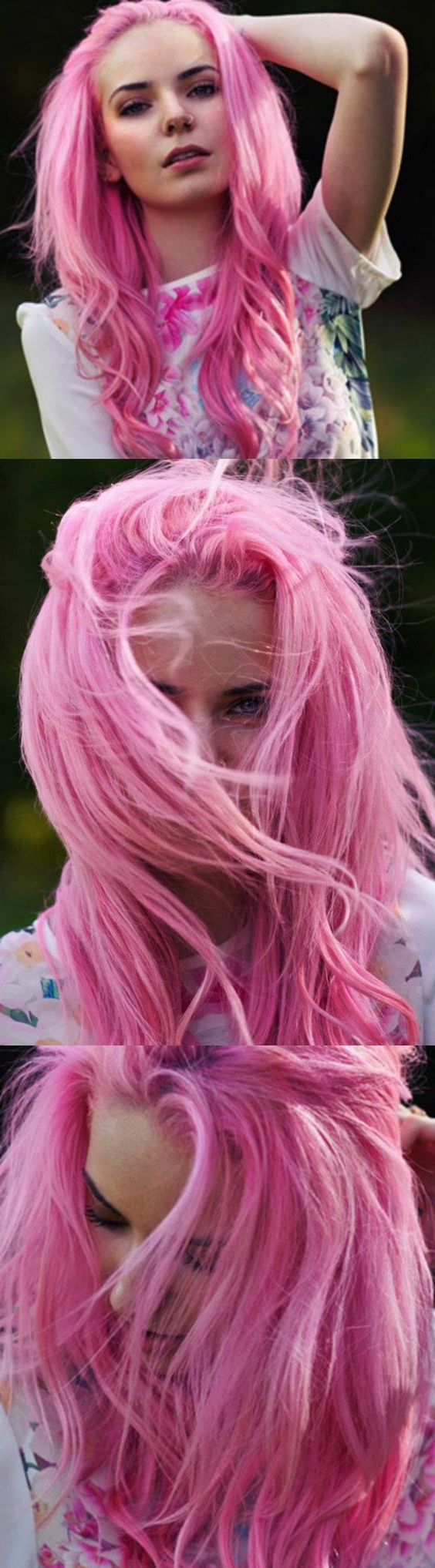Latest Hot Pink Highlights On Gray Curls Hairstyles For Bright Pink Hair Dye (with Images) (View 2 of 20)