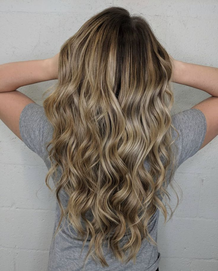 Long Hair, Long Layers, Honey Blonde, Beach Wave, Shadow With Latest Curls Hairstyles With Honey Blonde Balayage (View 2 of 20)