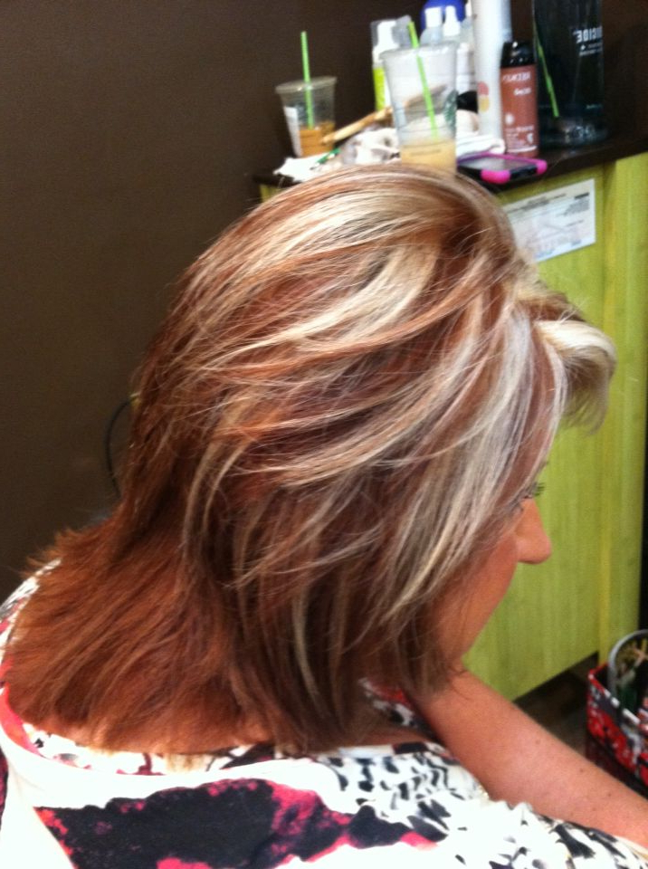 Long Hair Within Well Liked Red Highlights For Type 3c Hairstyles (View 16 of 20)