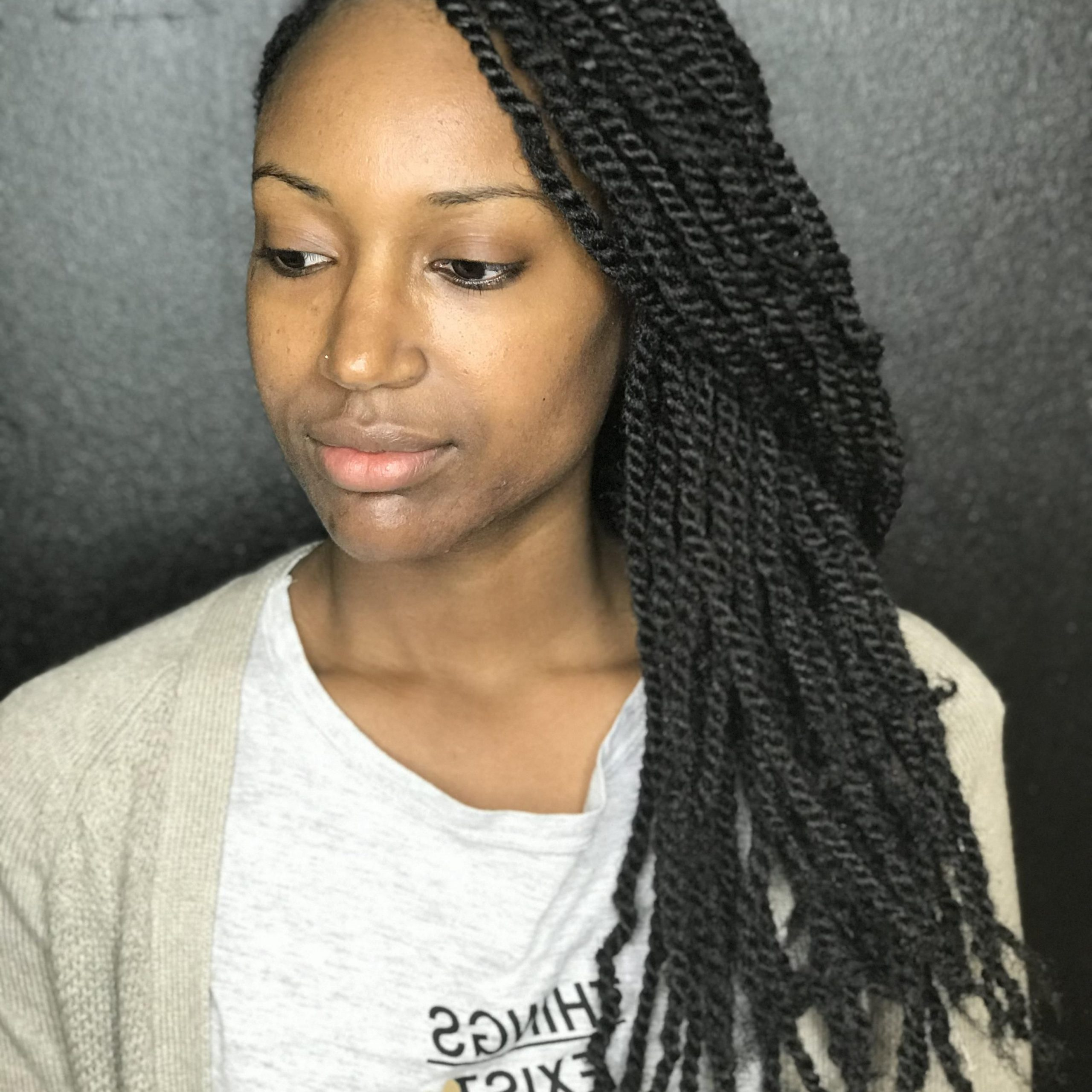 – Marleys (regular) $175 These Small Marley Twists Are Throughout Most Popular Marley Twists High Ponytail Hairstyles (View 8 of 20)