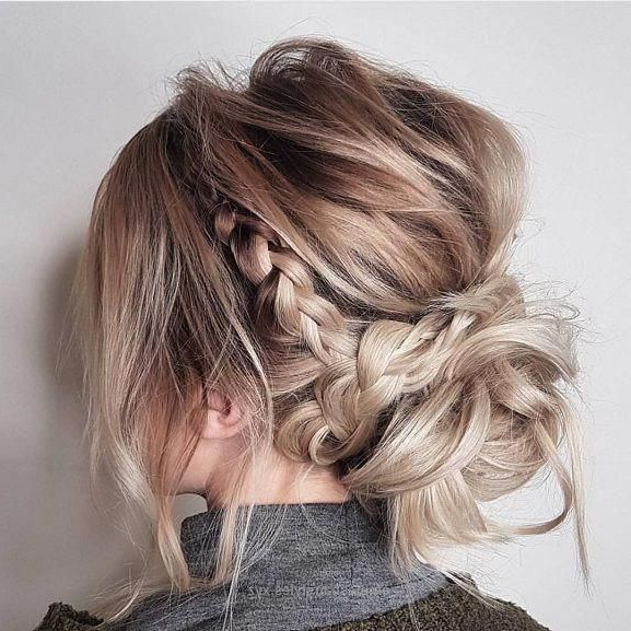 Messy Updo Hairstyles, Crown Braid Hairstyle To Try, Boho Throughout Trendy Messy Twisted Braid Hairstyles (View 3 of 20)