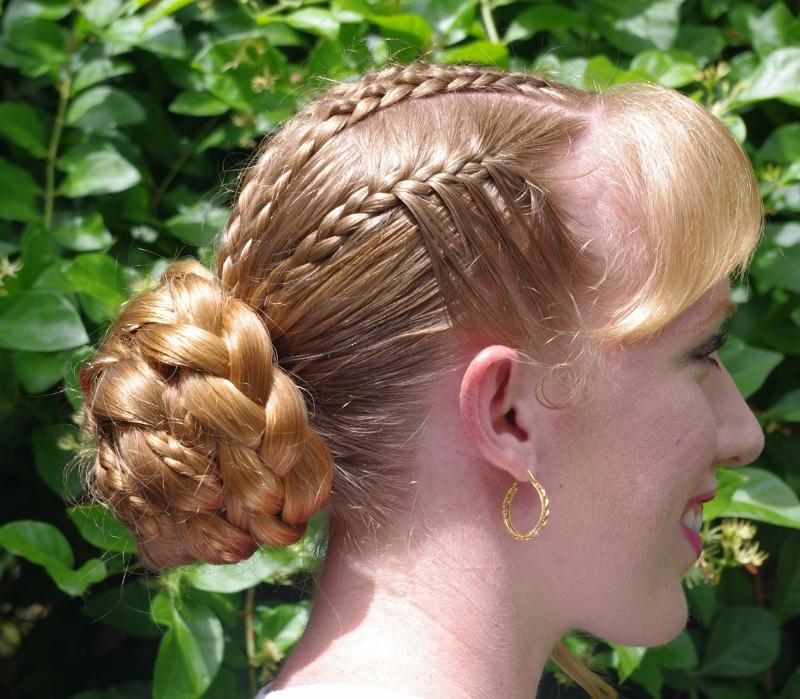 Mini Cornrow Braids With A Big Braided Bun ~ New With Regard To Most Recent Cinnamon Bun Braided Hairstyles (View 4 of 20)