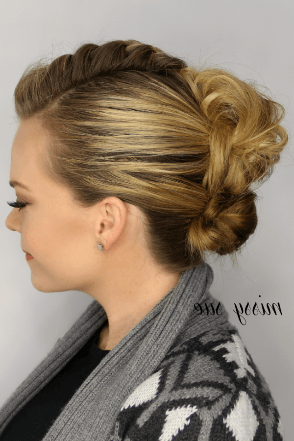 Mohawk French Braid Updo (View 4 of 20)