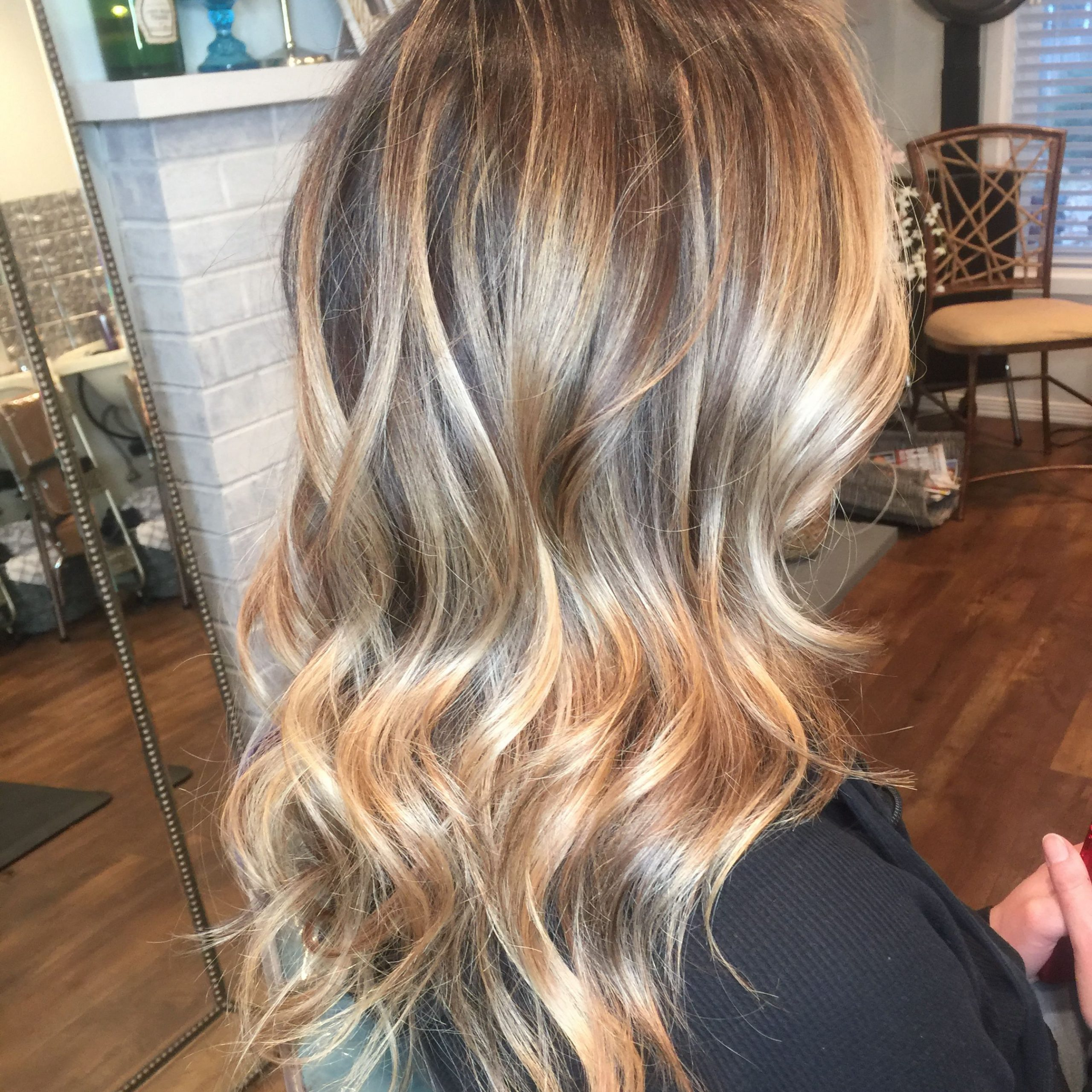 Most Current Golden Blonde Balayage On Long Curls Hairstyles With Regard To Golden Blonde Balayage Highlights @merakihairr Instagram (View 13 of 20)