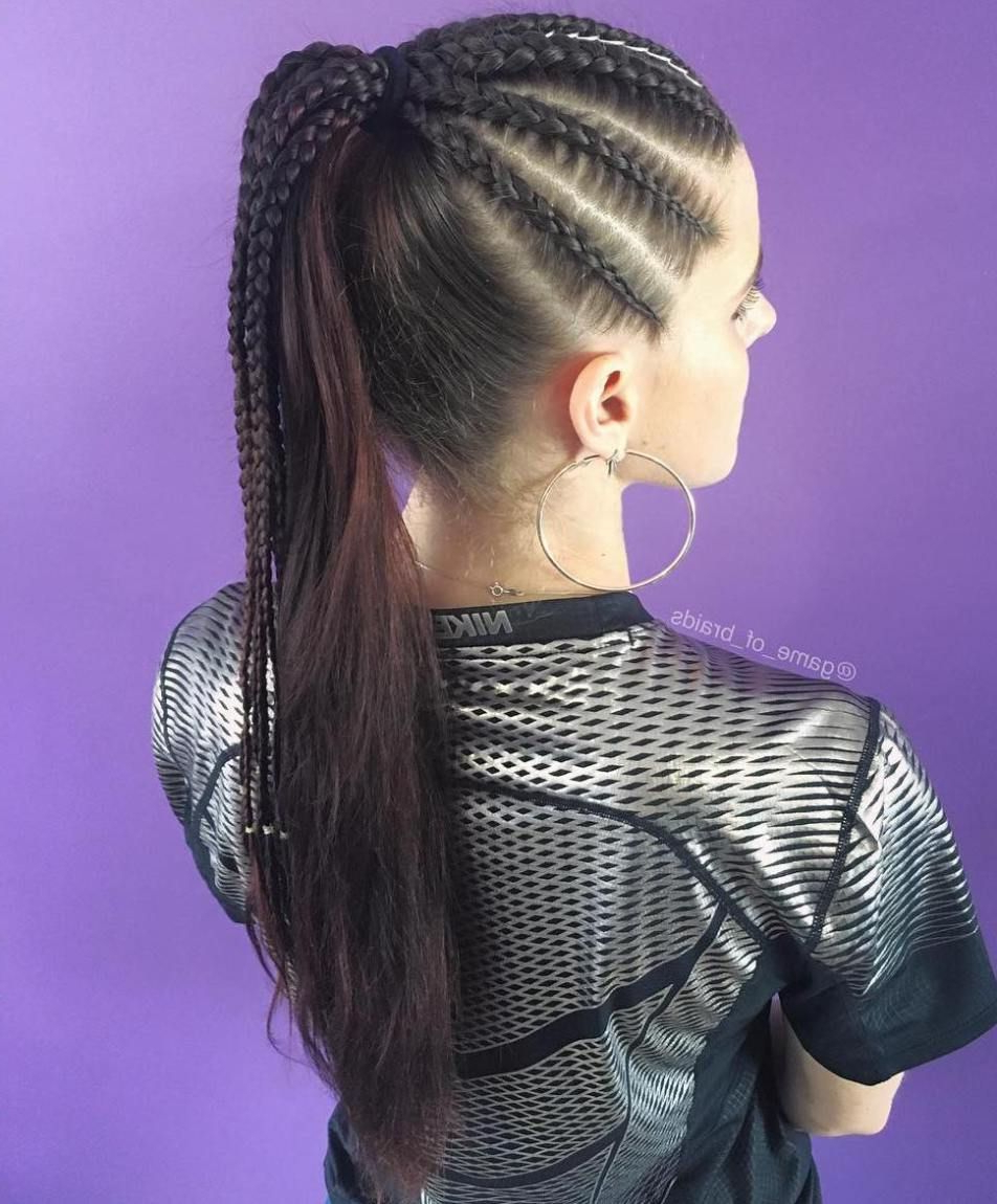 Most Current High Ponytail Braided Hairstyles With Regard To Braided Ponytail Ideas: 40 Cute Ponytails With Braids (View 11 of 20)