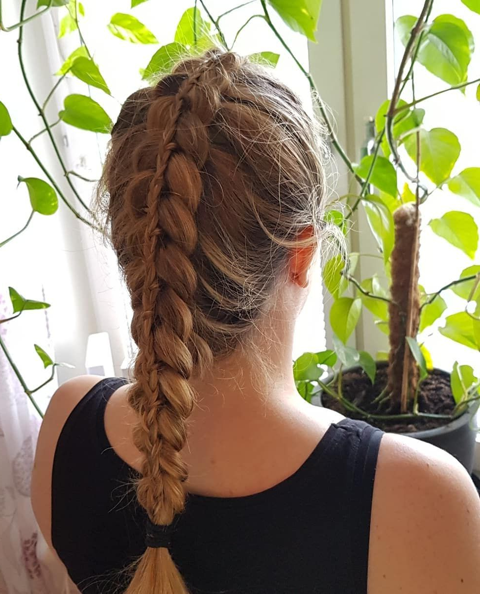 Most Current Quad Dutch Braids Hairstyles Within Dutch Braid 💕 #braidedhair #hairstyle #lacebraid #prom # (View 2 of 20)