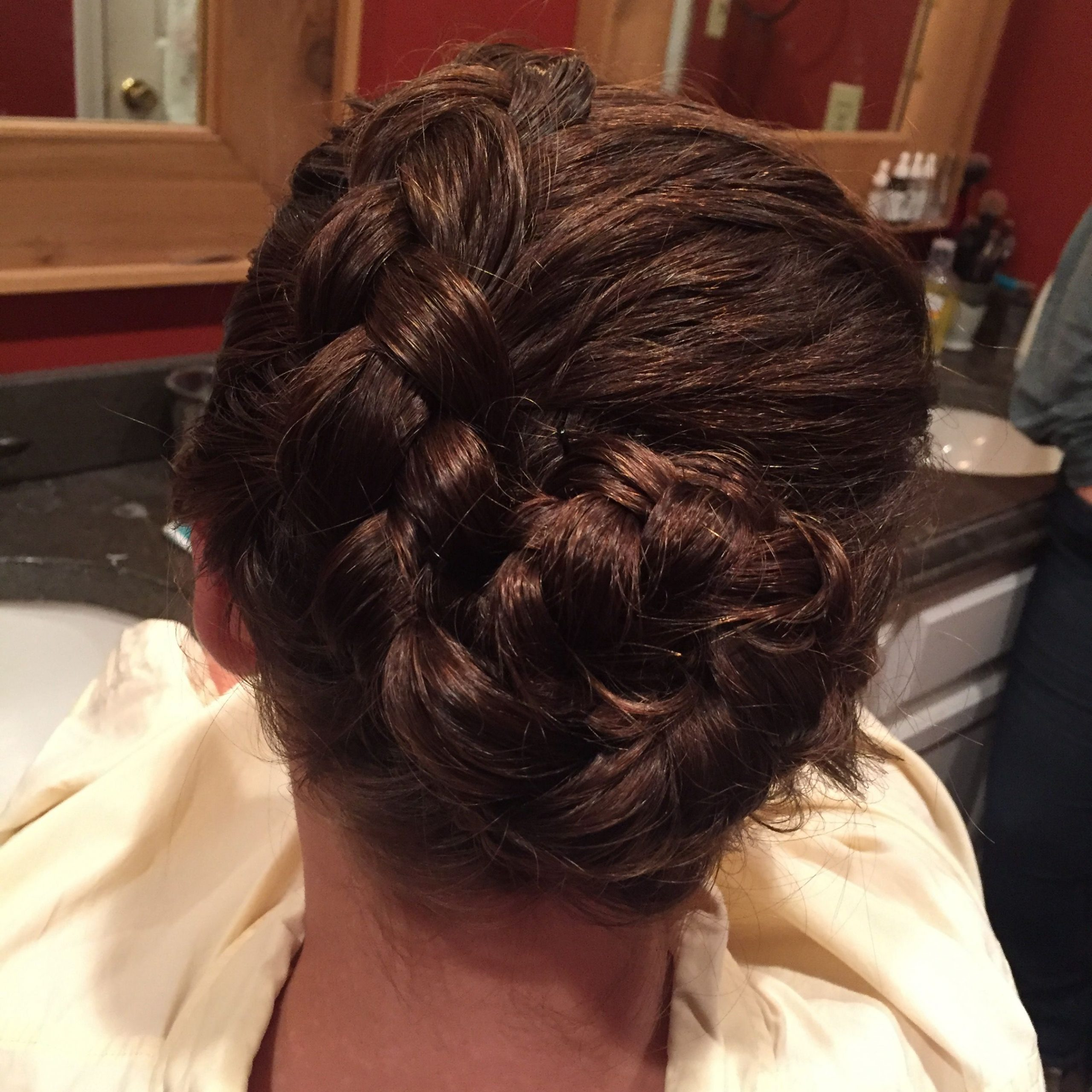 Most Current Rolled Roses Braids Hairstyles Pertaining To Dutch Braided Rose Bun (View 17 of 20)