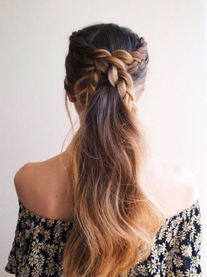 Most Popular Braided Beautiful Updo Hairstyles Inside Beautiful Braided Wedding Hairstyles Bridal Ponytail (View 8 of 20)