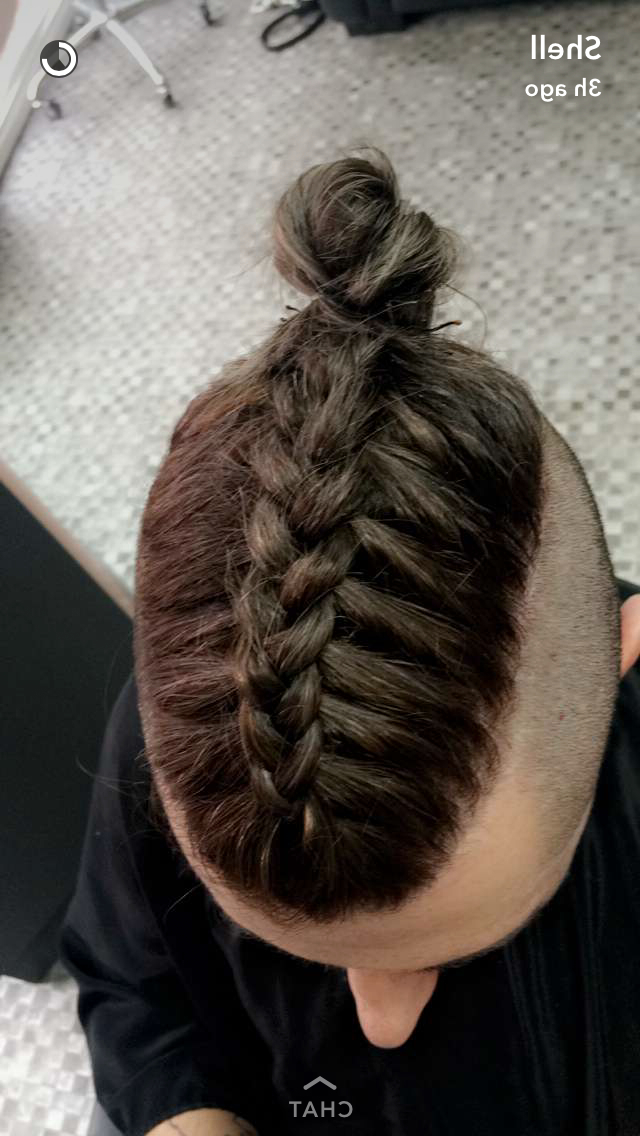 Most Popular Braided Top Knot Hairstyles With Regard To Man Braid Undercut Top Knot Ig: Mike Dugg (View 9 of 20)