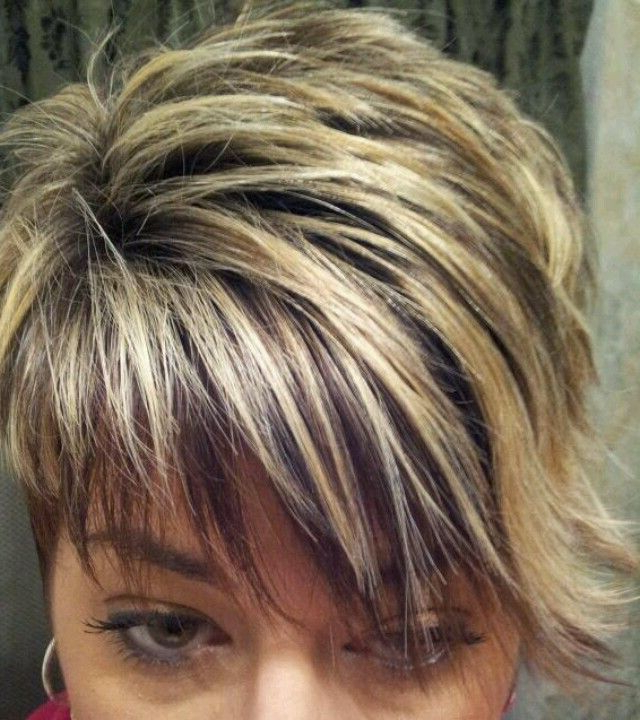 Most Popular Curly Pixie Hairstyles With Light Blonde Highlights Regarding 218ee507c76571825a3801246e8235be 640×720 Pixels (View 13 of 20)