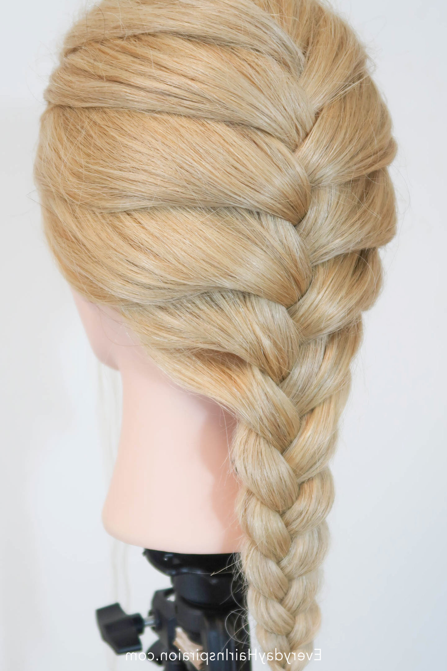 Most Popular Defined French Braid Hairstyles With How To French Braid (1 Way Of Adding Hair) – Everyday Hair (View 11 of 20)