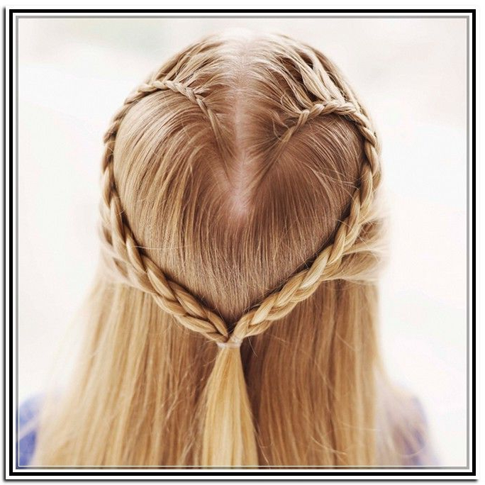 Most Popular Heart Braids Hairstyles In Heart Braid (View 2 of 20)