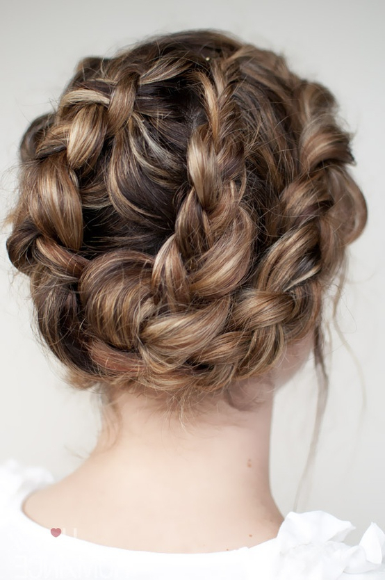 Most Popular Knotted Braided Updo Hairstyles In Halo Twist Braid Updo – Elegant Updos For Spring/summer (View 6 of 20)