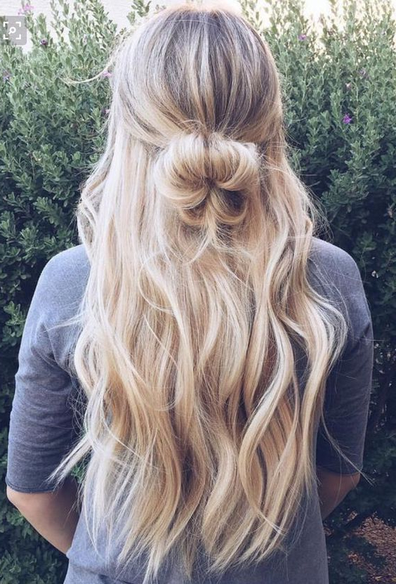 Most Popular Loose Highlighted Half Do Hairstyles Throughout Women Haircuts Hipster (View 6 of 20)