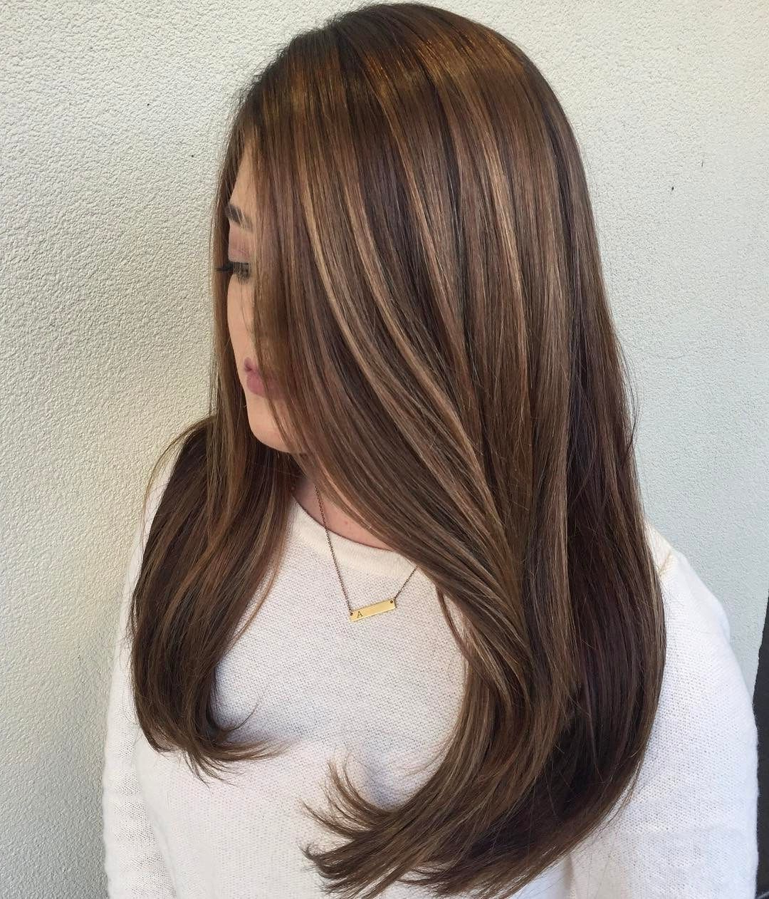 Most Popular Medium Length Curls Hairstyles With Caramel Highlights Throughout 50 Beautiful Hairstyles With Caramel Highlights (with (View 12 of 20)