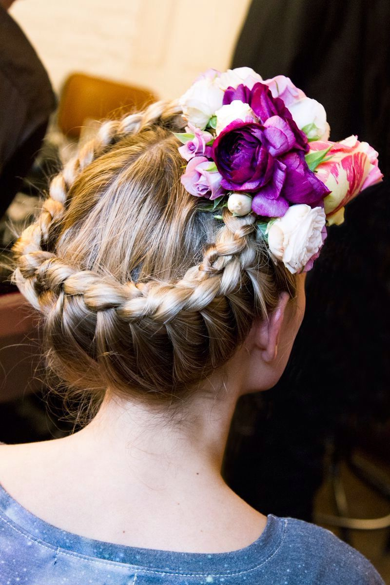 Most Recent Braided Crown Rose Hairstyles Inside Flower Braided Crown (View 7 of 20)