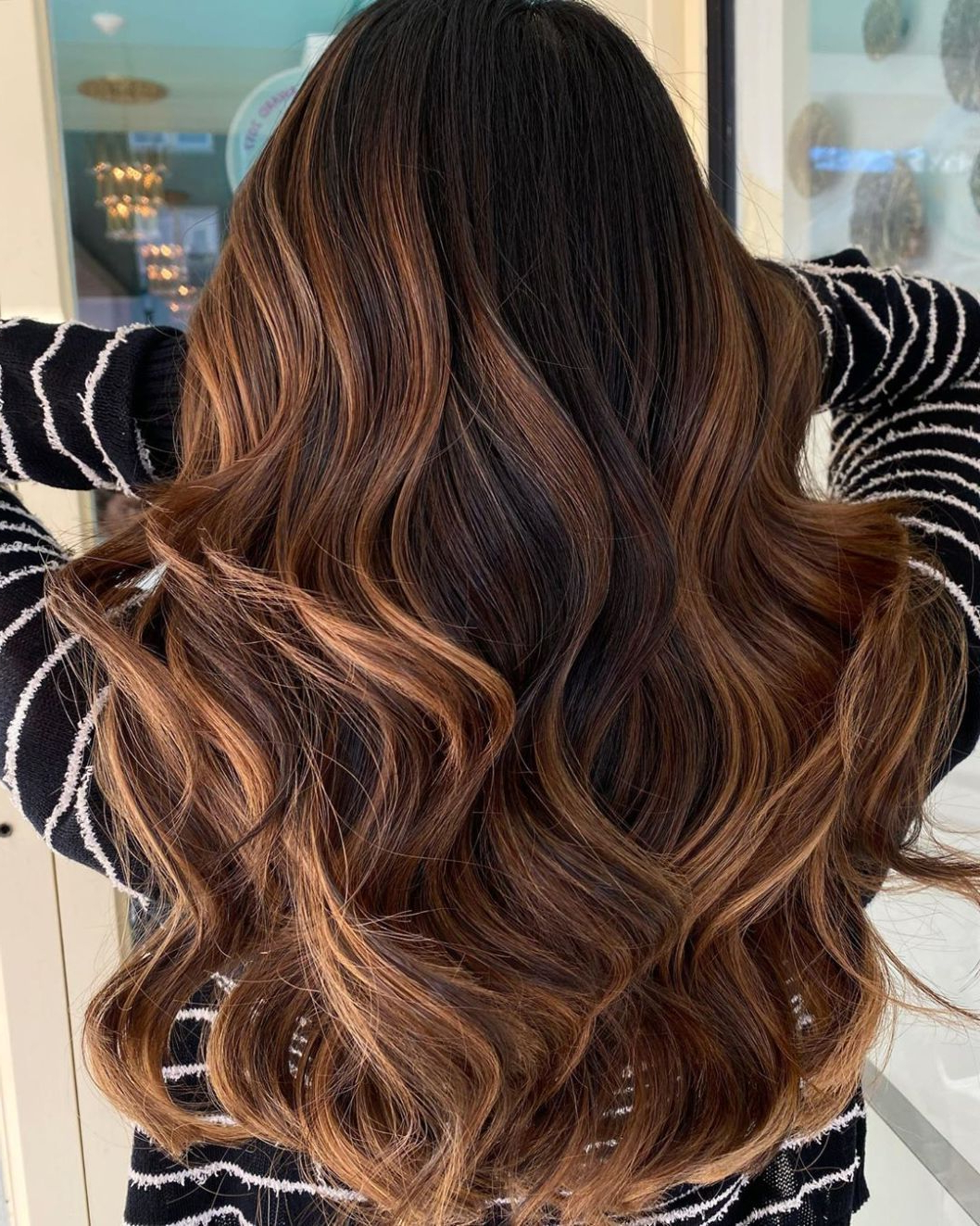 Most Recent Deep Chocolate Curls Hairstyles With High Contrast Highlights In 50 Trendy Brown Hair Colors And Brunette Hairstyles For (View 13 of 20)
