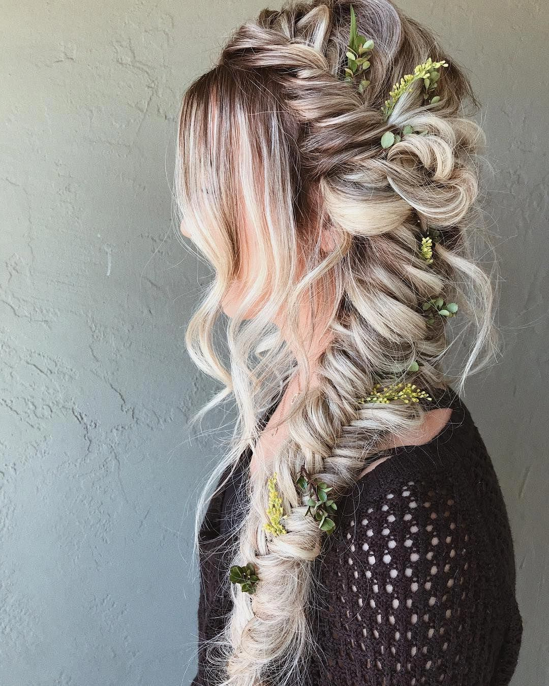 Most Recently Released Boho Rose Braids Hairstyles Regarding Braids Half Up Half Down Hairstyle , Boho Hairstyle ,updo (View 7 of 20)
