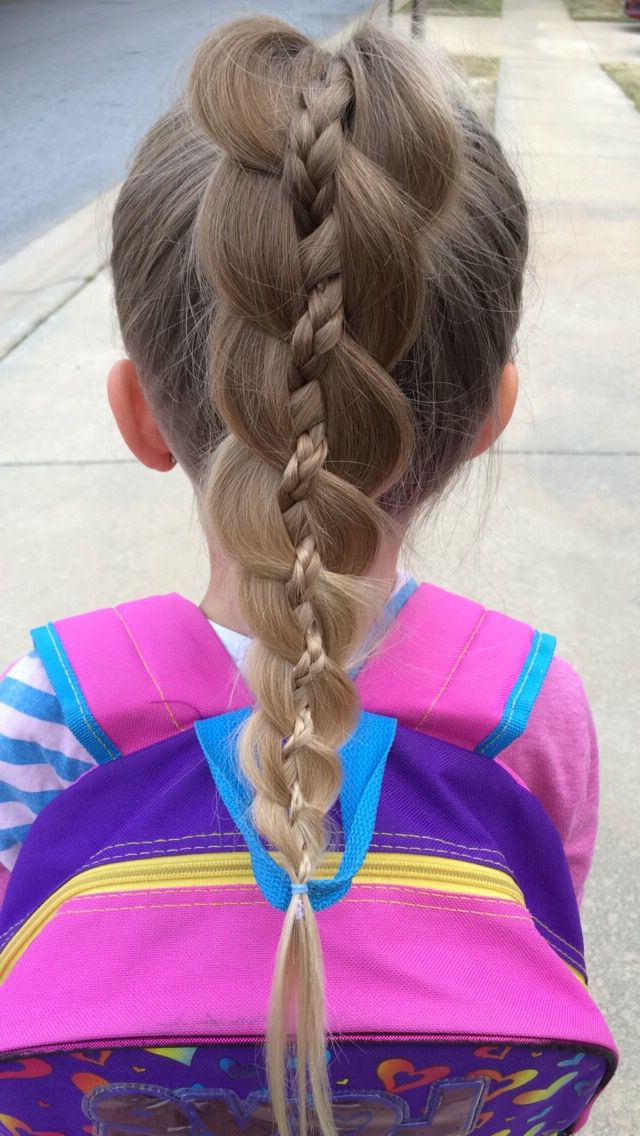 Most Recently Released Four Strand Braid Hairstyles Pertaining To Four Strand Braid With Braid Ponytail (View 14 of 20)