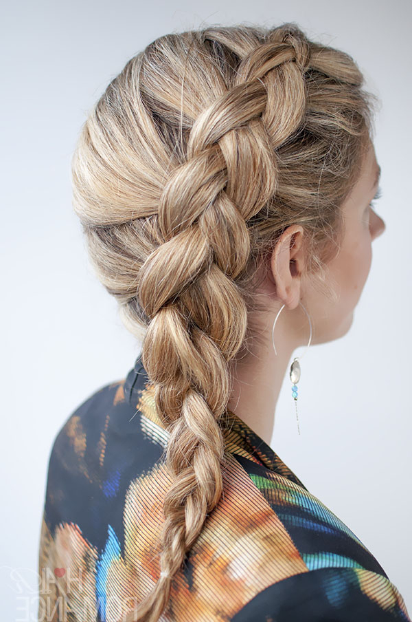 Most Recently Released Loose Pancaked Side Braid Hairstyles Regarding Dutch Side Braid Hairstyle Tutorial – Hair Romance (View 9 of 20)