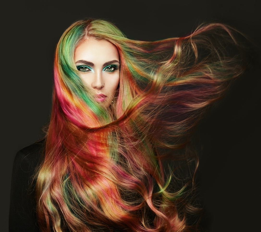 Most Recently Released Pastel Rainbow Colored Curls Hairstyles With 14 Rainbow Hair Looks To Add Some Magic Into Your Life (View 17 of 20)