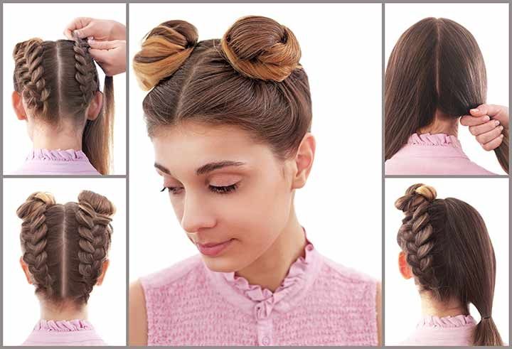 Most Up To Date Cinnamon Bun Braided Hairstyles In New: 25 Best Braided Hairstyles For Girls – The Trending Mom (View 18 of 20)