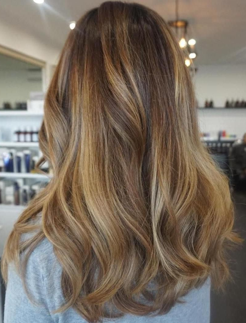 Most Up To Date Curls Hairstyles With Honey Blonde Balayage In 70 Flattering Balayage Hair Color Ideas For (View 6 of 20)