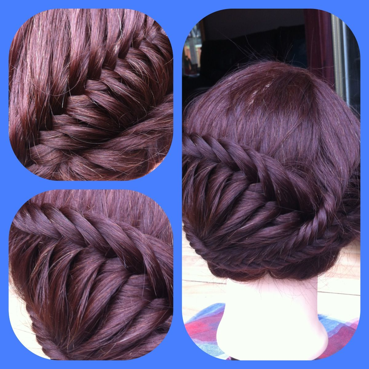 Most Up To Date Fishtail Updo Braid Hairstyles Intended For Fishtail Braid Updo (View 8 of 20)
