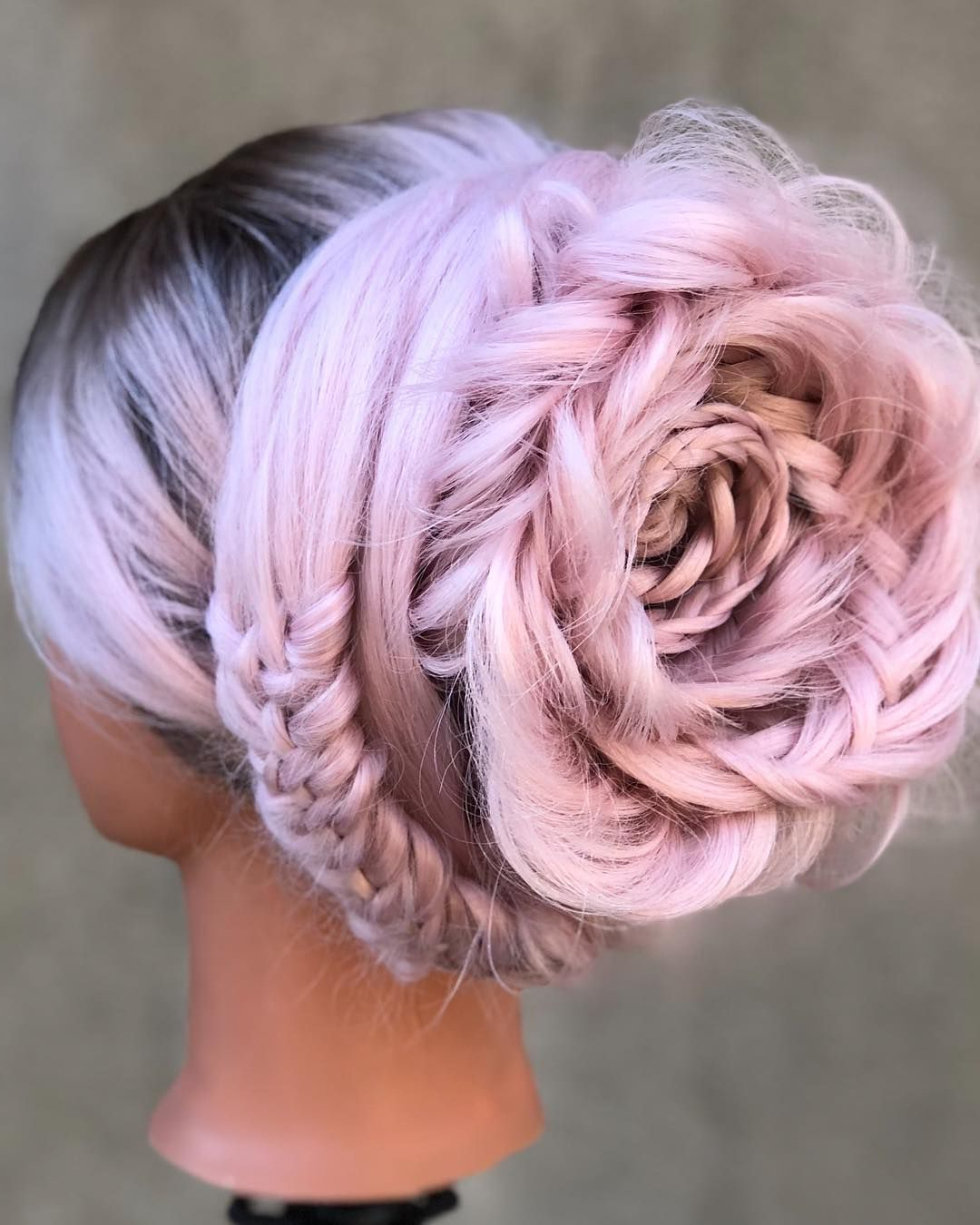 Most Up To Date Rolled Roses Braids Hairstyles With Regard To These Gorgeous Braided Rose Hairstyles Are Easier To Diy (View 11 of 20)