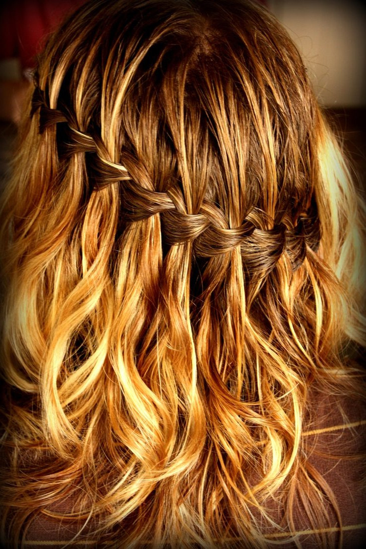 My Fashion Tricks: 10 Cute Braided Hairstyles!! With Most Popular The Waterfall Braid Hairstyles (View 15 of 20)