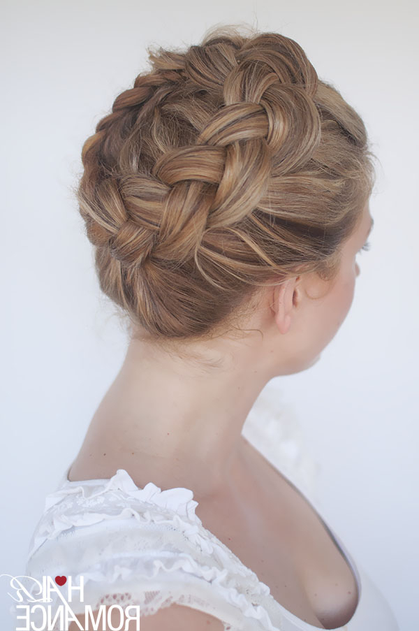 New Braid Tutorial – The High Braided Crown Hairstyle Intended For Well Known Braided Crown Rose Hairstyles (View 12 of 20)