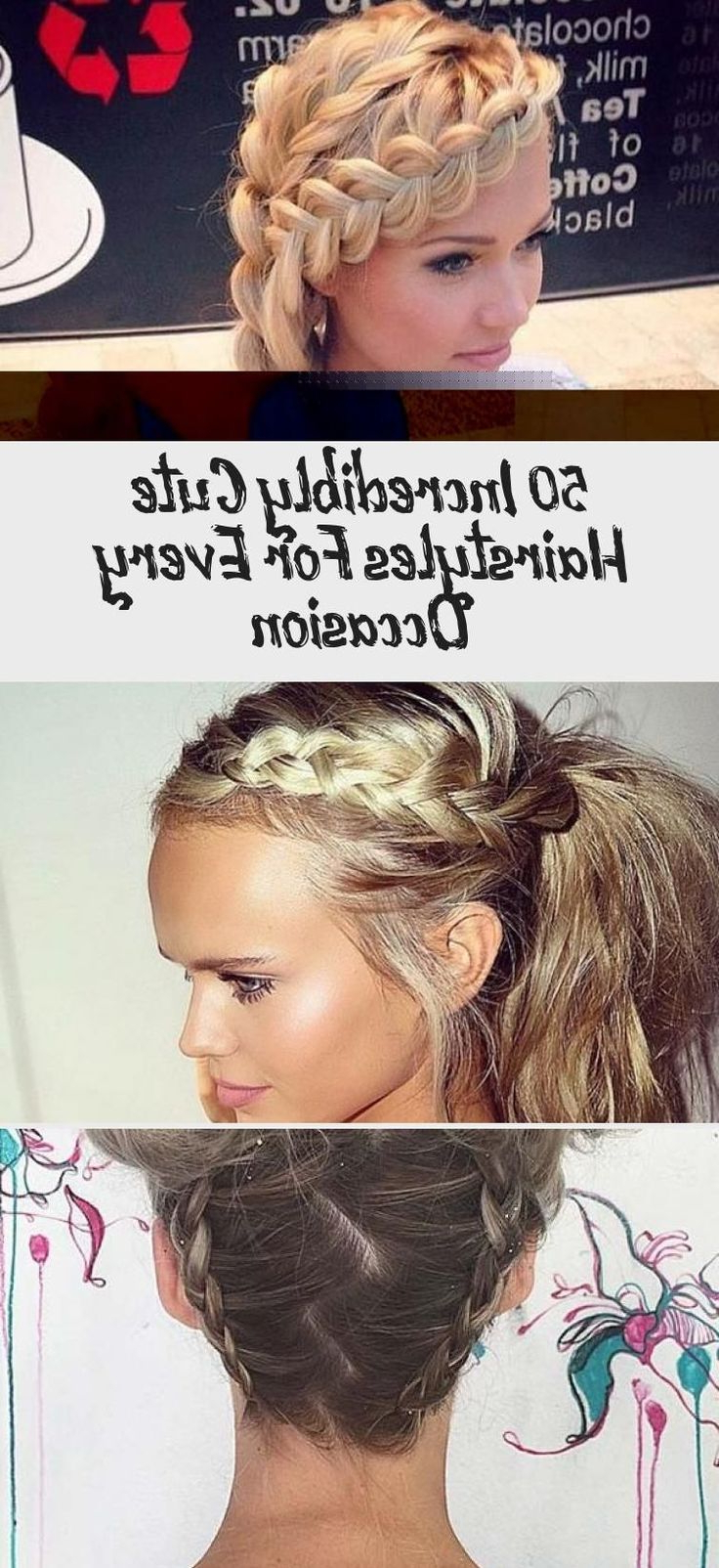 Newest Braided Top Knot Hairstyles Within 50 Incredibly Cute Hairstyles For Every Occasion # (View 2 of 20)