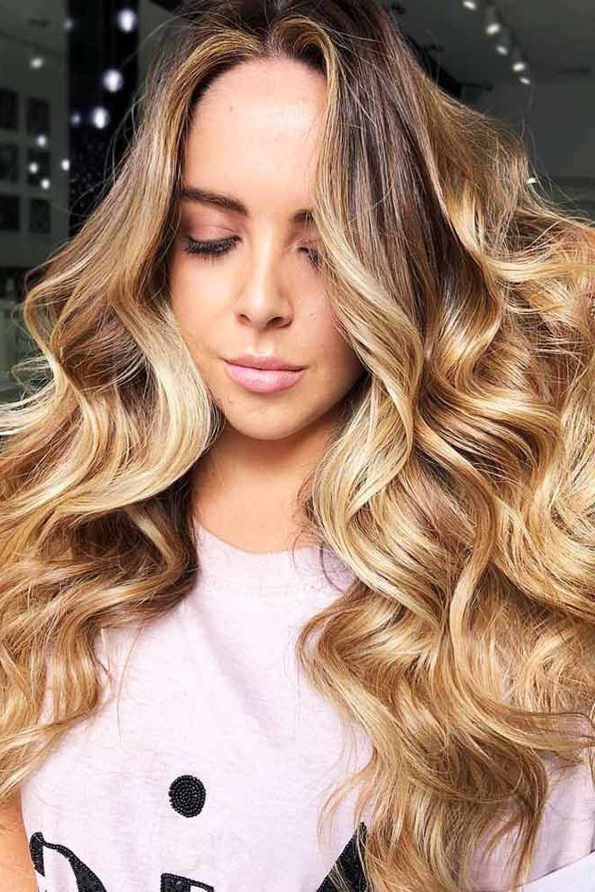 Newest Curls Hairstyles With Honey Blonde Balayage Pertaining To Hair Color 2017/ 2018 Fresh And Warm Honey Beige Blonde (View 3 of 20)