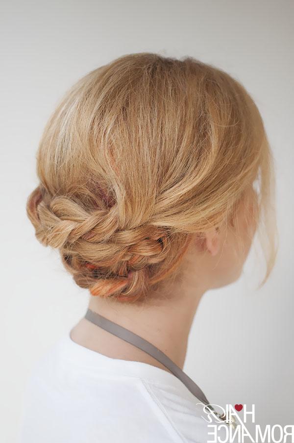 Newest Folded Braided Updo Hairstyles Regarding Braided Updo Hair Tutorial – Hair Romance (View 11 of 20)