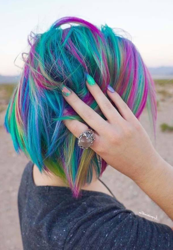 Newest Pastel Rainbow Colored Curls Hairstyles Pertaining To 104 Outstanding Rainbow Hair That You Can't Take Your Eyes Off (View 5 of 20)