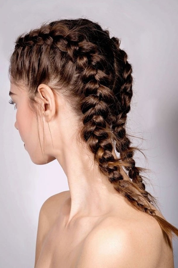 Newest Quad Dutch Braids Hairstyles Intended For 90 Beautiful Braid Hairstyles That Will Spice Up Your Looks (View 14 of 20)