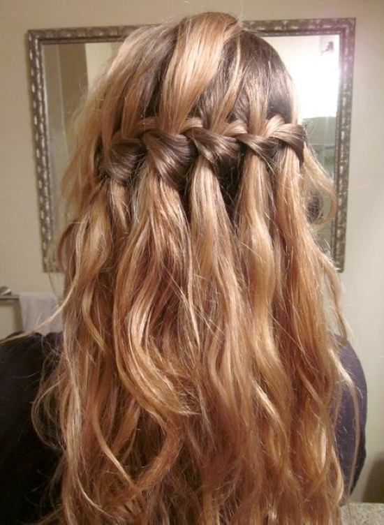 Newest The Waterfall Braid Hairstyles With Regard To Waterfall Braid Hairstyle (View 10 of 20)