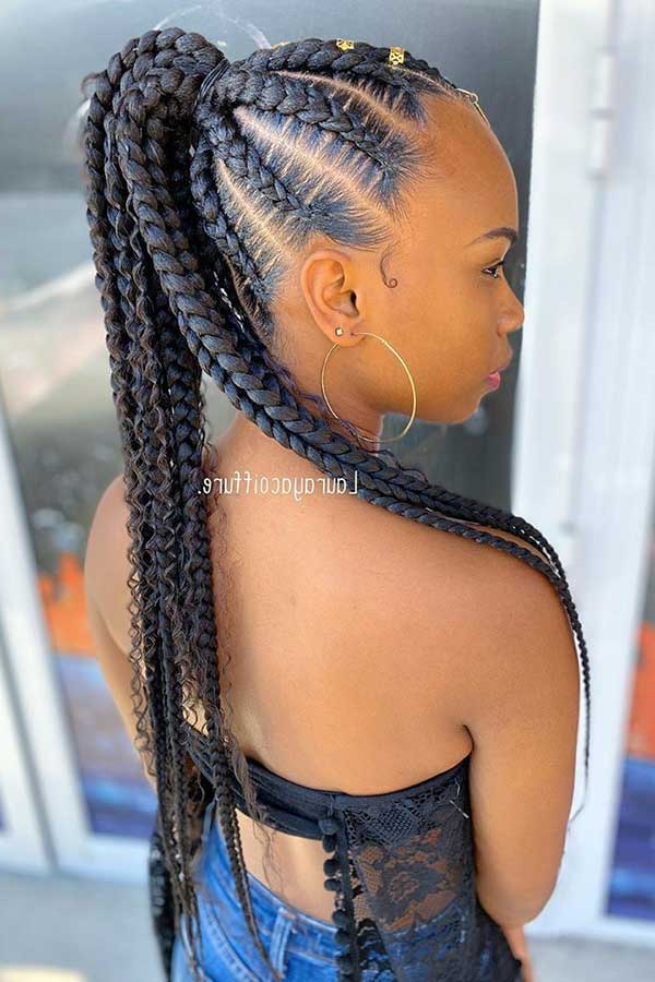 Page 6 Of 6 Pertaining To Most Recent High Ponytail Braided Hairstyles (View 14 of 20)