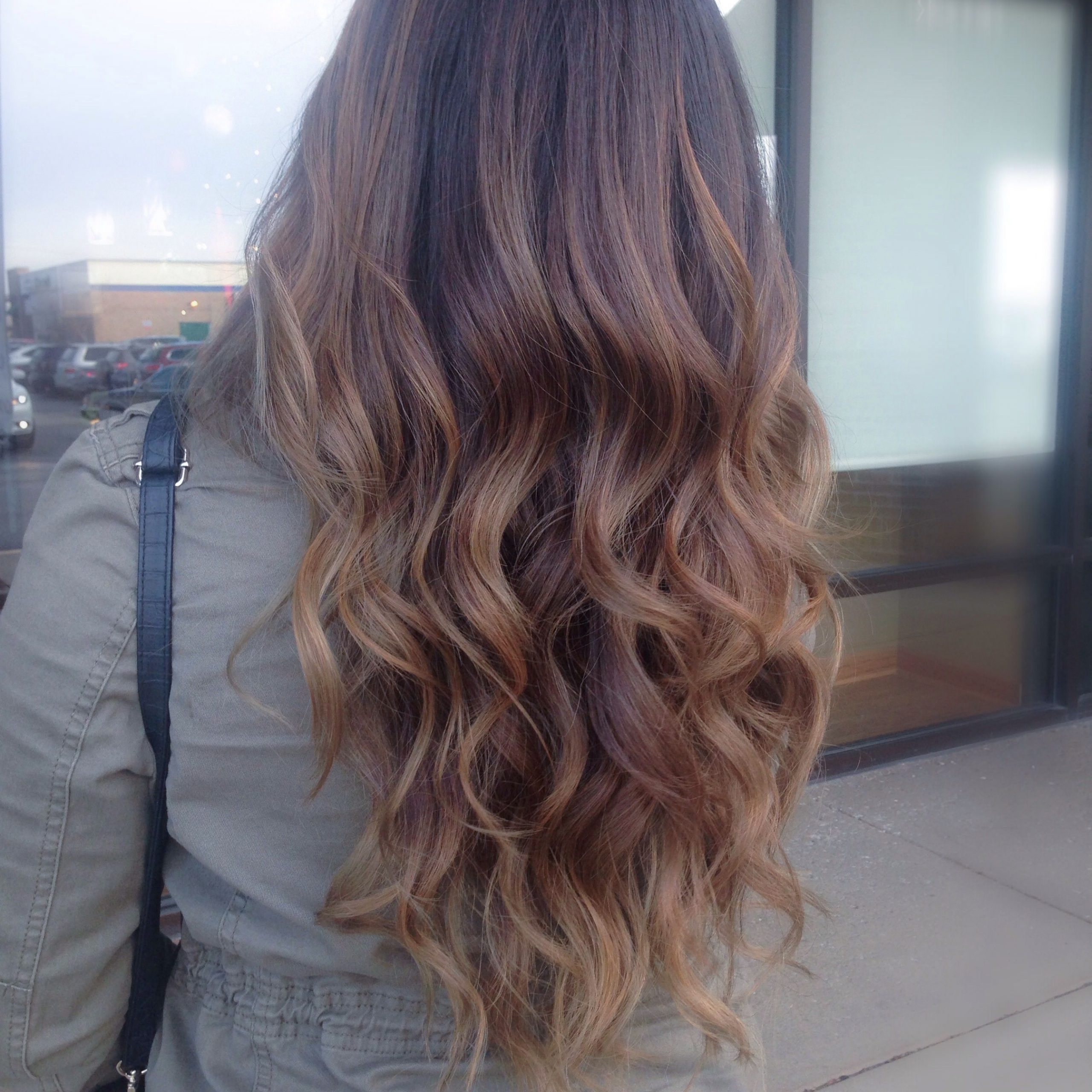 Pin On Hair Donebianca With Regard To Best And Newest Curls Hairstyles With Honey Blonde Balayage (View 8 of 20)