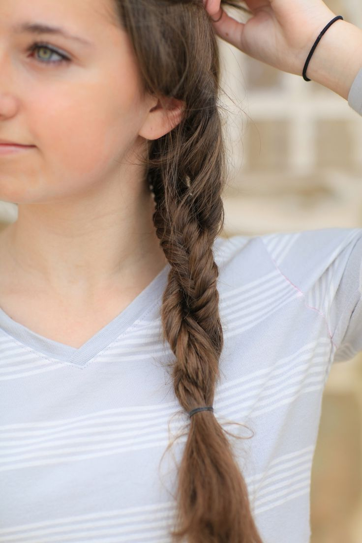 Pin Op Cool Hairstyles Inside Widely Used Double Braided Single Fishtail Braid Hairstyles (View 5 of 20)