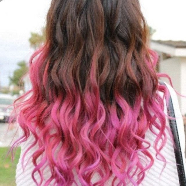 Pink Highlights For Brown Hair Inside Best And Newest Hot Pink Highlights On Gray Curls Hairstyles (View 3 of 20)