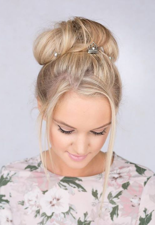 Popular Braided Crown Rose Hairstyles Regarding Princess Crown Set Of Three U Pins Will Alight Your Updo (View 17 of 20)