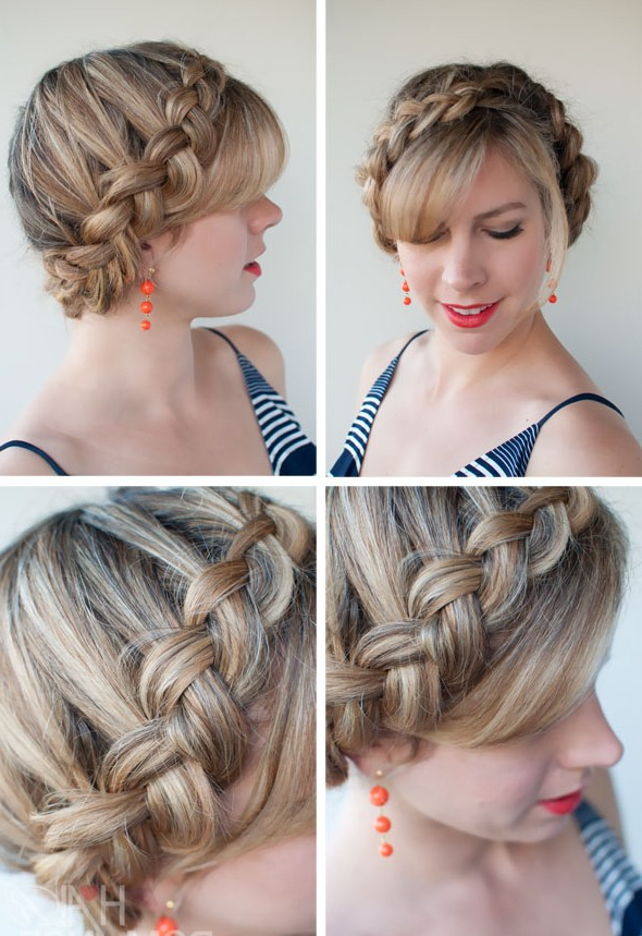 Popular Braided Hairstyles – The Dutch Crown Braid Pertaining To Fashionable Bridal Crown Braid Hairstyles (View 6 of 20)