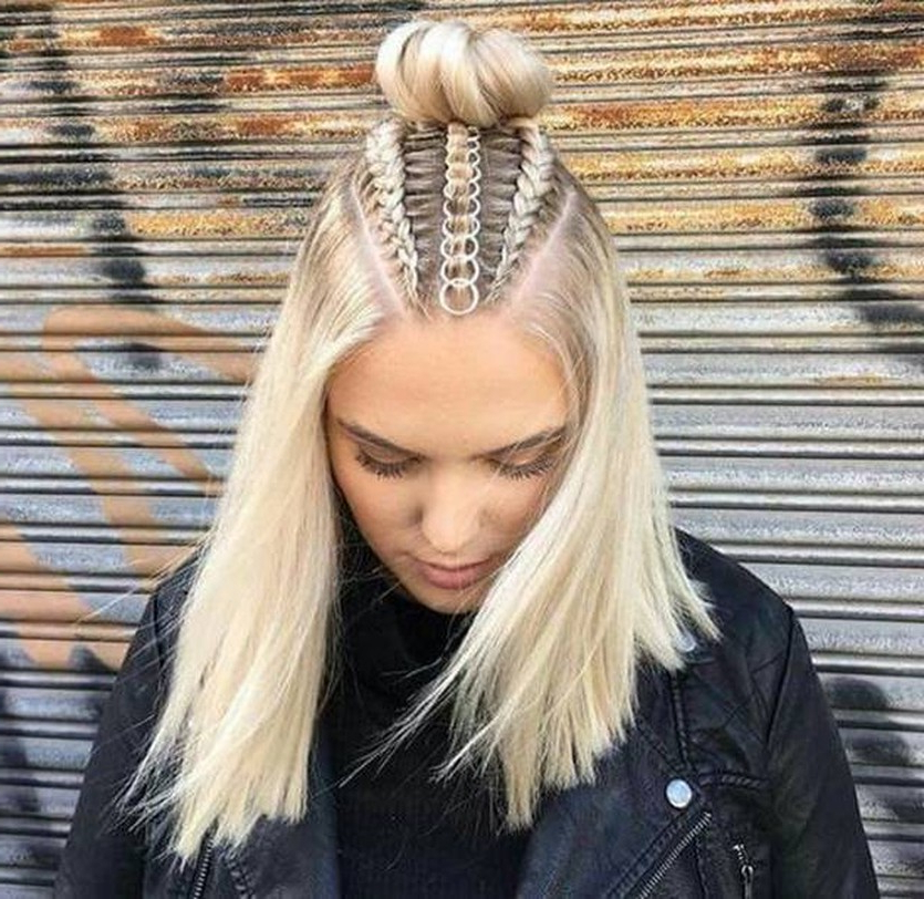 Popular Braided Top Knot Hairstyles Intended For Trend Watch – Mohawk Braid Into Top Knot Half Up (View 3 of 20)